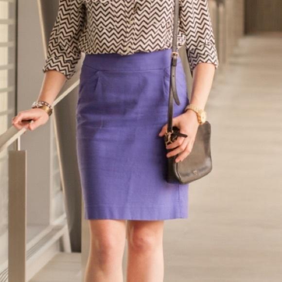 "2/$30 J. Crew ""The pencil skirt""  purple"